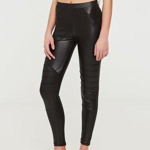 Black Shiny Moto Leggings in S and M